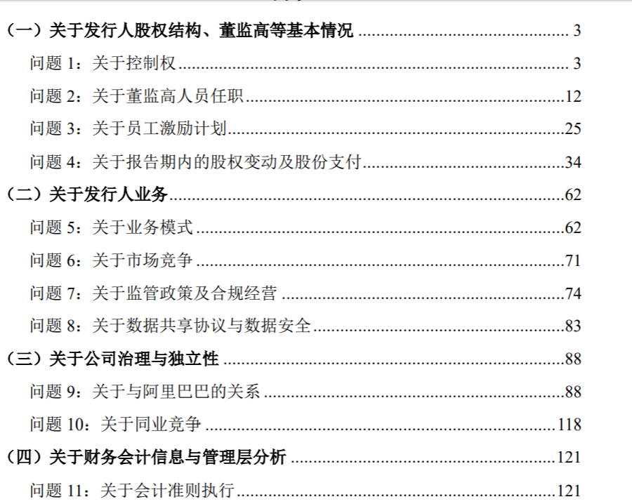 蚂蚁集团回复上市首轮问询 首轮问询回复共计6大类21个问题